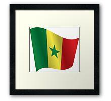 Waving Flag of Senegal Framed Print