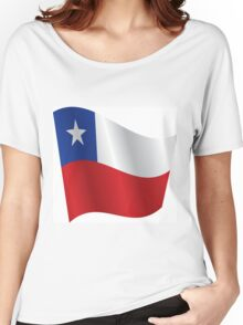 Waving Flag of Chile Women's Relaxed Fit T-Shirt