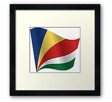 Waving Flag of Seychelles Framed Print