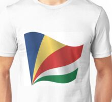 Waving Flag of Seychelles Unisex T-Shirt