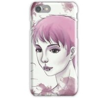 Nerdy Girl Pastell Vintage Postcard iPhone Case/Skin
