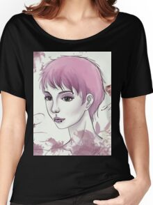 Nerdy Girl Pastell Vintage Postcard Women's Relaxed Fit T-Shirt