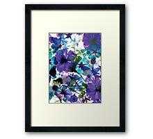 Bluebell Spring Floral Collage Framed Print
