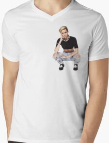 Miley Cyrus Mens V-Neck T-Shirt