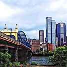 Pittsburgh PA - Pittsburgh Skyline by Smithfield Street Bridge by Susan Savad
