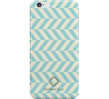 blue spike pattern iPhone Case/Skin