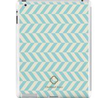 blue spike pattern iPad Case/Skin