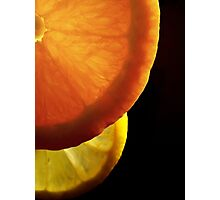 Shining  fruit slices  Photographic Print