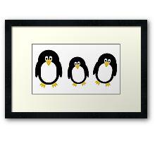 Cartoon Penguins Framed Print
