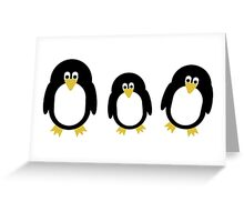 Cartoon Penguins Greeting Card