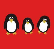 Cartoon Penguins One Piece - Short Sleeve