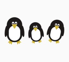 Cartoon Penguins Kids Tee