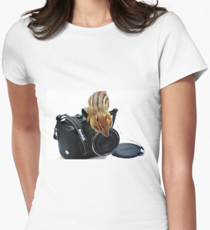 """Rule #1:   """"Always Remove The Lens Cap""""... Womens Fitted T-Shirt"""