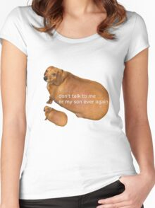 Don't talk to me or my son ever again - geek Women's Fitted Scoop T-Shirt
