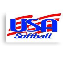 Team USA Softball Logo Canvas Print