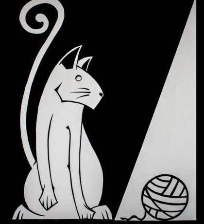 Chat noir dans l'ombre Sticker