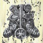 T45 Power Armor Helmet by John Henderson