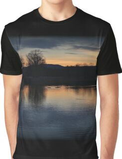 Fading Winter Color Swim Graphic T-Shirt