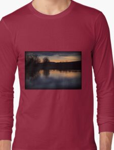 Fading Winter Color Swim Long Sleeve T-Shirt