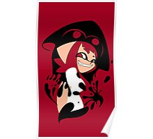 Red Splatoon Inkling Smile Poster