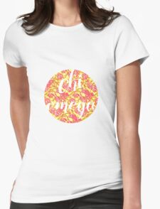 Chi Omega Womens Fitted T-Shirt