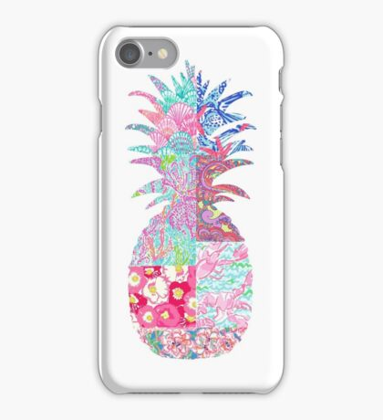 Lily Pulitzer patch pineapple iPhone Case/Skin