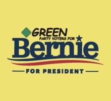 Green Party Voters for Bernie for President - On Green Baby Tee