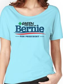 Green Party Voters for Bernie for President - On Green Women's Relaxed Fit T-Shirt