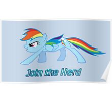 Rainbow Dash Join the Herd Poster