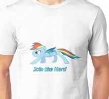Rainbow Dash Join the Herd Unisex T-Shirt