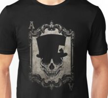 Voodoo Monkey Skull Ace of Spades Unisex T-Shirt