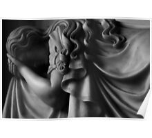 Grief -  Photographic stone sculpture memorial Poster