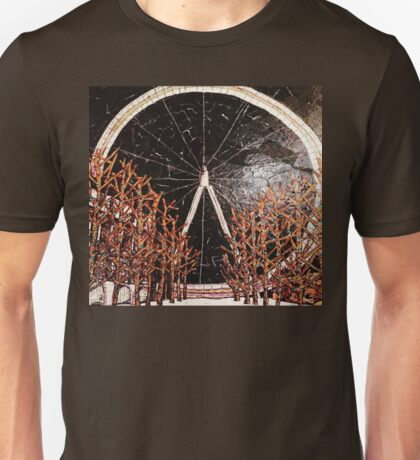 Lights of London- Mixed Media Collage Unisex T-Shirt