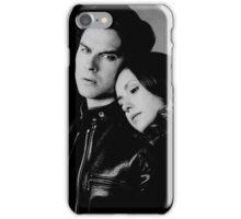 Delena in black and white - Elena and Damon iPhone Case/Skin
