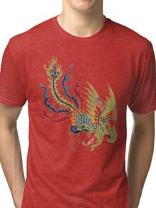 Chinese Rooster Asian Art Tri-blend T-Shirt