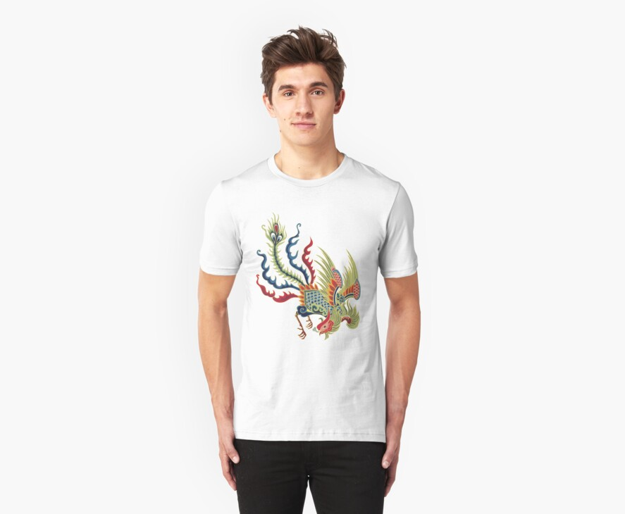 Chinese Rooster Asian Art by Zehda