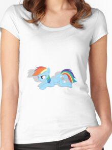Rainbow Dash Laying Down Women's Fitted Scoop T-Shirt