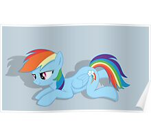 Rainbow Dash Laying Down Poster