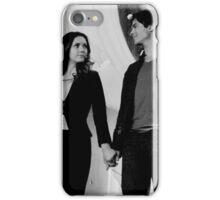 Elena and Damon in black and white - Delena iPhone Case/Skin