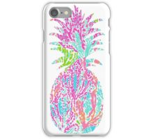 Lily print pineapple iPhone Case/Skin