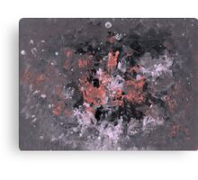 Charcoal Pink Galaxy Canvas Print