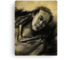 Lexa Sleeping Canvas Print