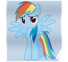 Rainbow Dash Blush Poster