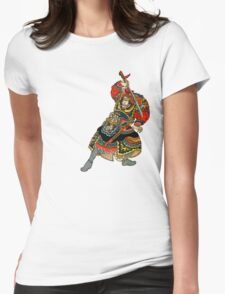 Samurai Draws His Sword Womens Fitted T-Shirt