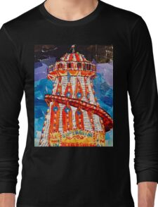 Helter Skelter Mixed Media Collage Long Sleeve T-Shirt
