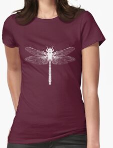 White Dragonfly  Womens Fitted T-Shirt