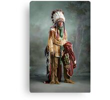 Colorized American Indian Chief Porcupine circa 1900 Canvas Print