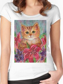 Tiger Puff Women's Fitted Scoop T-Shirt