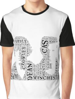 Sam and Dean Winchester Supernatural Hunter Brothers Graphic T-Shirt