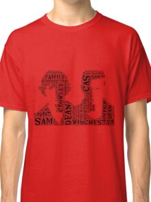 Sam and Dean Winchester Supernatural Hunter Brothers Classic T-Shirt